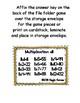 Multiplication Fun x11 Number Bonds Envelope Center