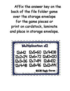 Multiplication Fun x12 Number Bonds Envelope Center