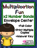 Multiplication Fun x2 Number Bonds Envelope Center