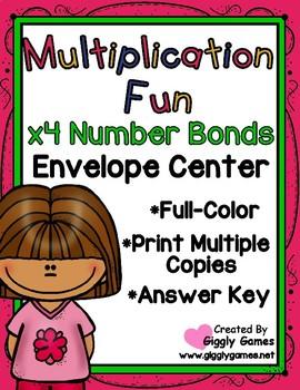Multiplication Fun x4 Number Bonds Envelope Center