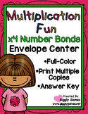 Multiplication Fun x4 Number Bonds Envelope Center