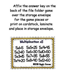Multiplication Fun x5 Number Bonds Envelope Center