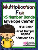 Multiplication Fun x5 Number Bonds Envelope Center