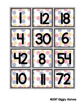 Multiplication Fun x6 Number Bonds Envelope Center