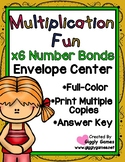 Multiplication Fun x6 Number Bonds Envelope Center