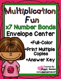 Multiplication Fun x7 Number Bonds Envelope Center