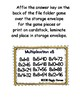 Multiplication Fun x8 Number Bonds Envelope Center