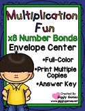 Multiplication Fun x8 Number Bonds Envelope Center