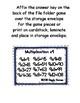 Multiplication Fun x9 Number Bonds Envelope Center