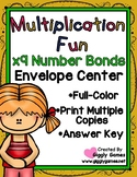 Multiplication Fun x9 Number Bonds Envelope Center