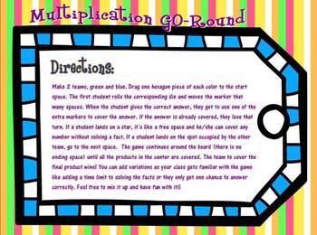 Multiplication GO-Round SMARTboard Game