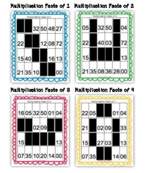 Multiplication Game (Self-Checking Folder Game/Worksheets)