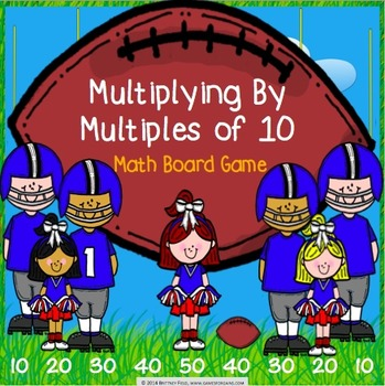 Multiplication Activity: Multiplying by Multiples of 10 Game (3.NBT.3)