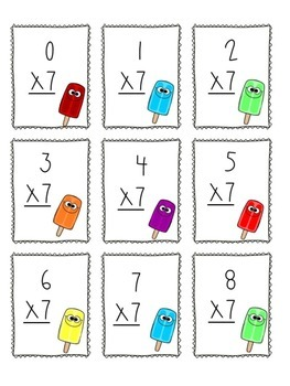 Multiplication Game x7 and x8