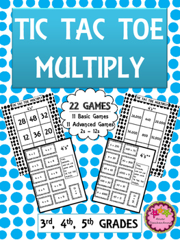 Multiplication Facts - Games for Math Centers