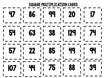 Multiplication Board Game: Road Trippin'