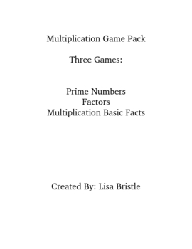 Multiplication Game 3 Pack