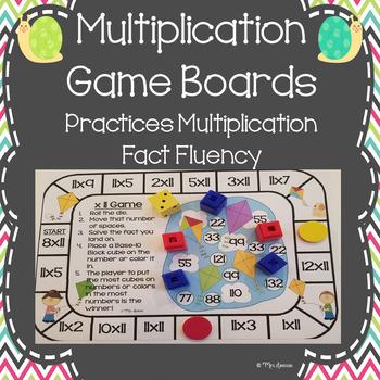 Multiplication Game Boards