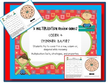 Multiplication Game Cover 4 Spinner Game
