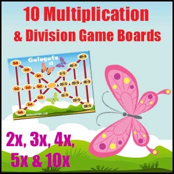 Multiplication Games & Division Games {In One Bundle} - The Butterfly Game
