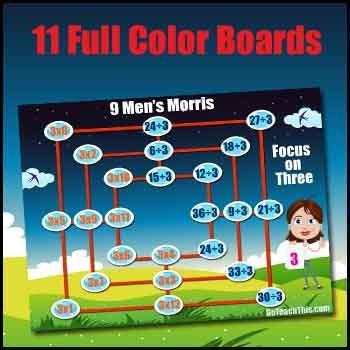 Multiplication Game & Division Game in One - Nine Men's Morris