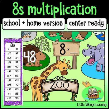 Multiplication Game: Eight Times Table Knock-out