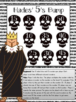 Greek God themed Multiplication Games