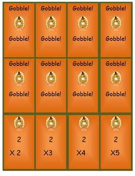 Multiplication Game - Gobble! Gobble!