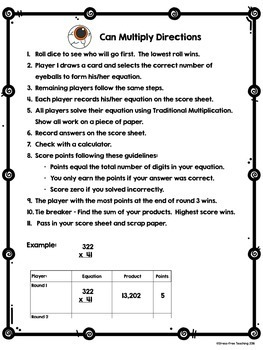 Multiplication Game - Halloween
