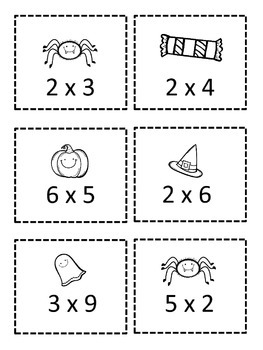 Halloween Multiplication Game