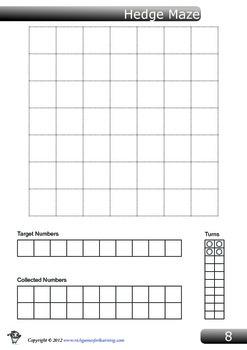 Multiplication Game - Hedge Maze