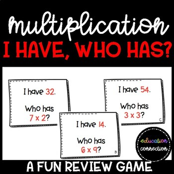 Multiplication Game: I have Who Has