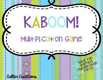 Multiplication Game - KaBoom! Facts 1-12