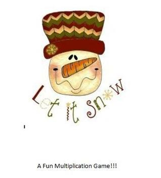 Multiplication Game - Let it Snow