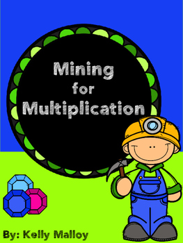 Math Game Multiplication Game - Mining for Multiplication