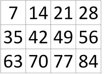 Multiplication Game - Multiples Garbage