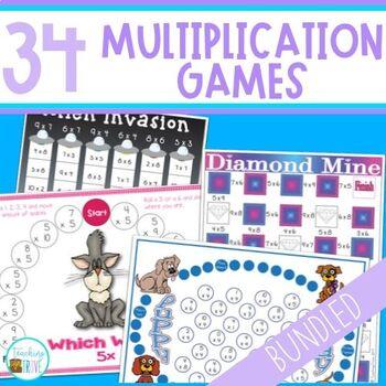 Multiplication Games Bundle - 34 games