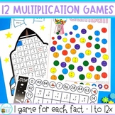 Multiplication Games - 0 to 12x
