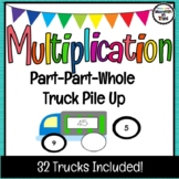 Multiplication Sorting Game - Part Part Whole - Missing Factor Truck Pile Up