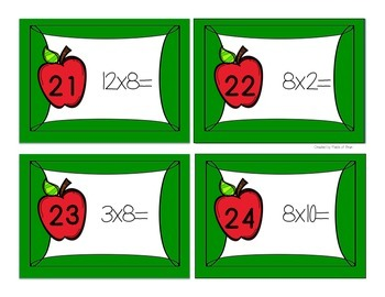 Multiplication Scoot x8's