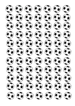 Multiplication Game - Soccer Cover-Up