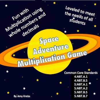 Multiplication Game - Space Adventure
