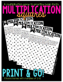 Multiplication Game - Squares - Fact Practice
