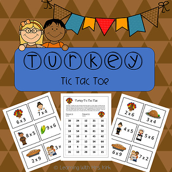 Multiplication Game Thanksgiving Math