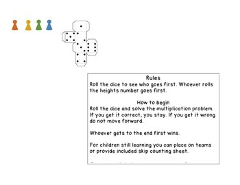 Multiplication Game for 6, 7 and 8
