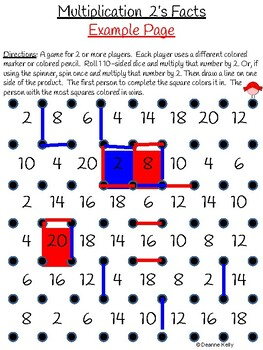 Multiplication Game for Facts 1-12