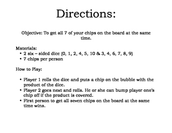 Multiplication Game - lower version