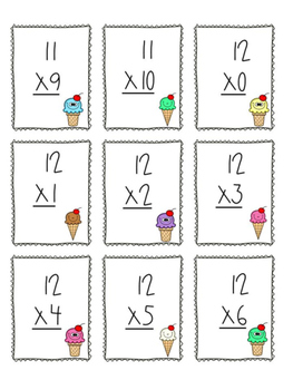 Multiplication Game x11 and x12