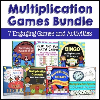 Multiplication Centers Bundle: 3rd Grade Multiplication Games and Activities