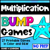 Multiplication Games: 27 Printable Multiplication Bump Games for Facts Fluency